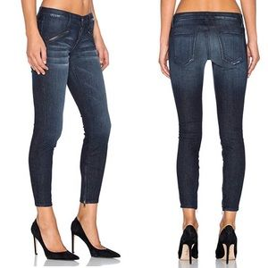 Current Elliot Silver Lake Zip Skinny Jeans